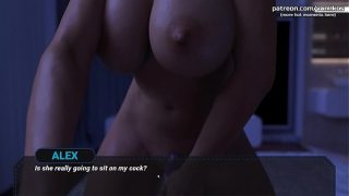 Dreams of Desire Gorgeous milf Step Aunt with big boobs and a nice ass takes StepNephew's virginity and lets him cum inside of her hot pussy