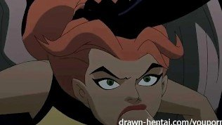 Justice League Hentai – Two chicks for Batman dick