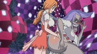 Nami fucks brulee in the ass one piece