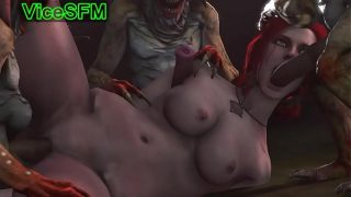 Triss Merigold fucked by monsters tight pussy drilling xxx